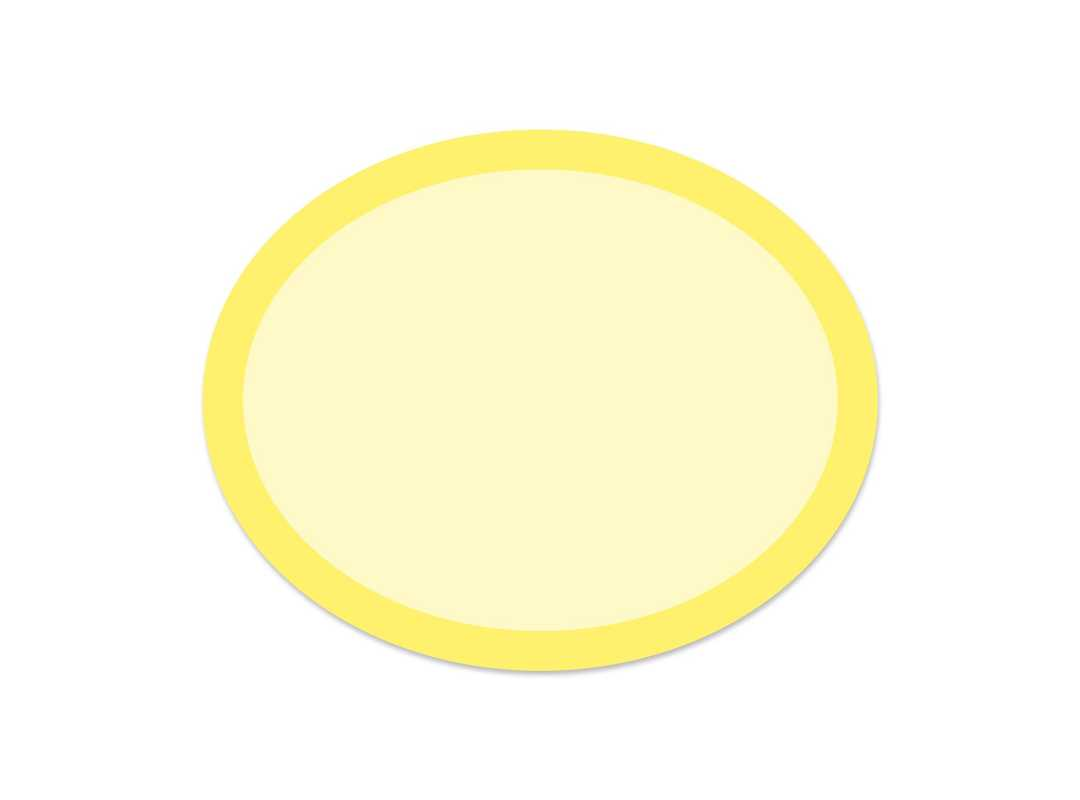 OVA006 - Yellow Rainbow Oval 28 p/s Label
